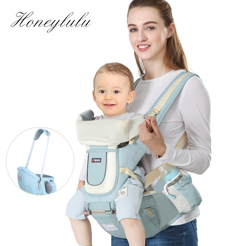 Honeylulu Baby Carrier Kangaroo Horizontal Sling For Newborns Silicone Cushion Hipseat Multi-functional Four Seasons Baby Sling