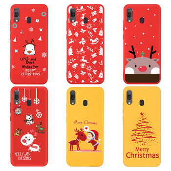 Phone Case For Samsung Galaxy A50 A70 A40 A20 A10 A30 2019 A7 2018 Soft Silicone Cover Moose Santa Claus Christmas Tree Cases image
