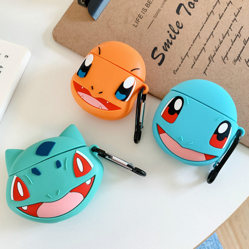 Cute Case for AirPods Silicone Bluetooth Earphone Cover for Airpods 2 Cartoon Protective Stereoscopic Digital Monster Design(China)