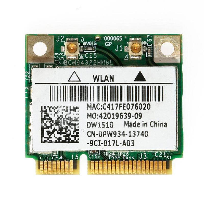 1pcs Half Mini Wireless Wifi Network Card For DW1510 PW934 BCM94322HM8L Green Wifi Network Card