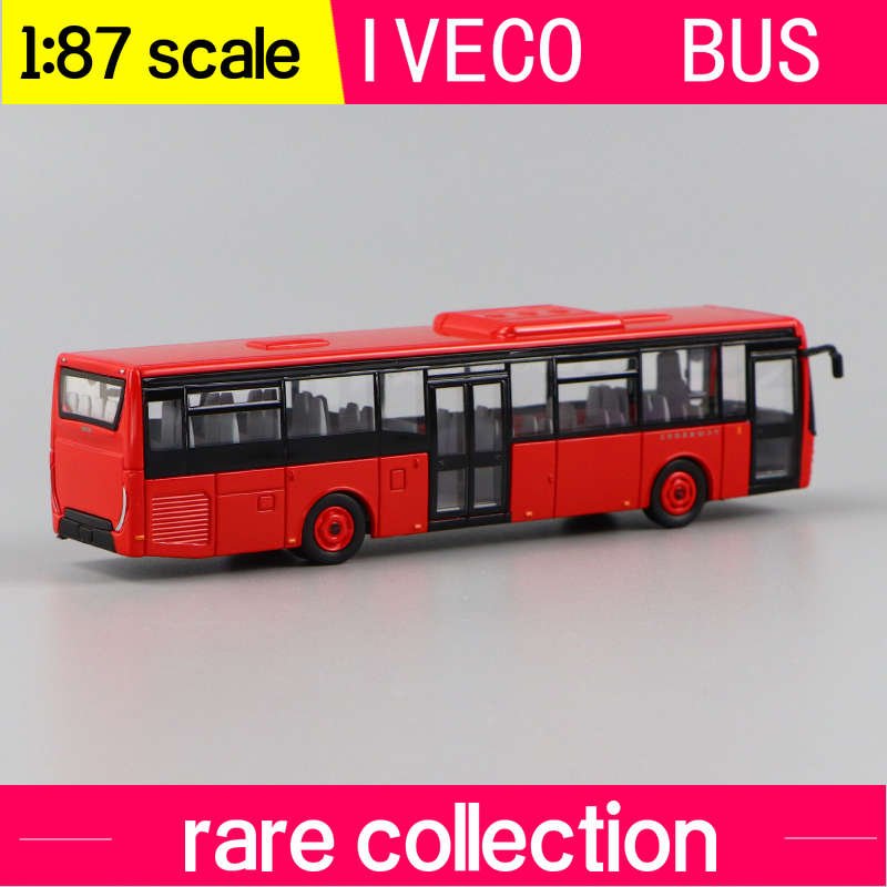 NOREV 1:87   IVECO BUS CROSSWAY LOW ENTRY  RED RESIN CAR MODEL