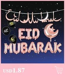EID Mubarak Hollow Moon Wooden Hanging Pendant Ornament DIY Craft Muslim Home Ramadan Decor Islamic Festival Event Party Favor