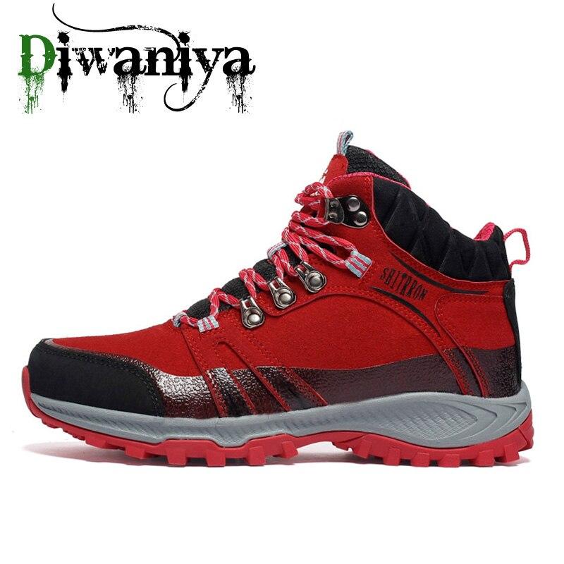 Водонепроницаемая походная обувь для мужчин, пуховая обувь для альпинизма, качественная уличная Треккинговая обувь, дышащие кроссовки, охо...