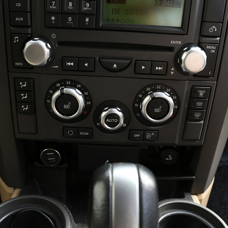 Para land rover range rover sport l320 2005 2006 2007 2008 abs chrome ar condicionado do carro botão de volume capa guarnição acessórios do carro