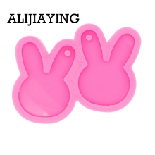 Silicone Mold Pendant-Mould Earrings Crafts Epoxy-Jewelry-Making Resin Rabbit for DIY