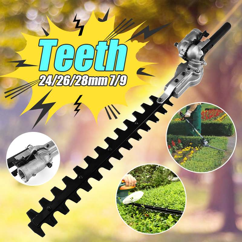 7 Teeths Pole Hedge Trimmer Bush Cutter Head Grass Trimmers For Garden Multi Tool Pole Chainsaw Garden Poweres Tools 26mm