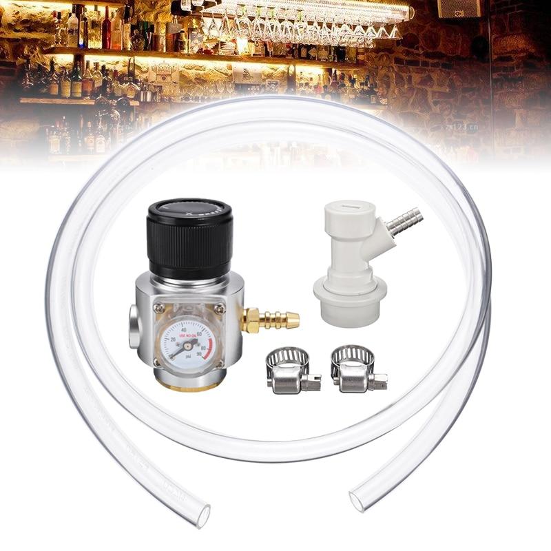 1Pc CO2 Gas Regulator Mini Line Corny Cornelius Keg Charger Ball Lock