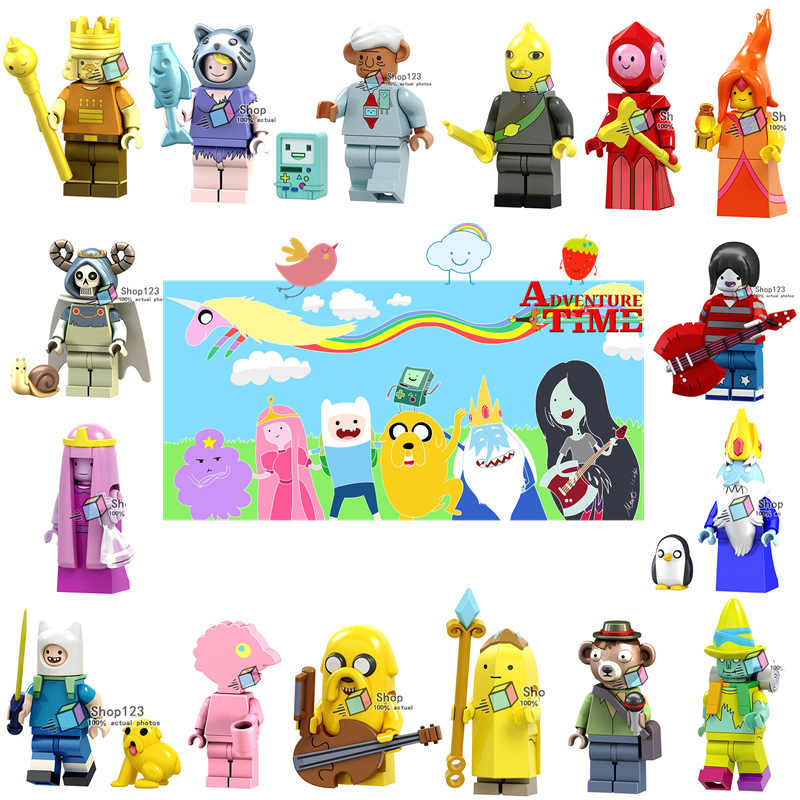 Adventure Time Marceline King of Ooo Mo and Bimo Lemon Duke Party Pat Building Blocks Toys for Children  Friends