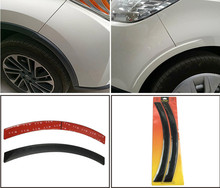 2Pcs Arch Car Wheel Eyebrow for Fender Flares Auto Mudguard Protector Strips Car Auto Replacement Parts Universal 2pcs set pp carbon fiber color look car wheel fender flares trims wheel splasher mud guard strips for bmw g30 for vw passat golf