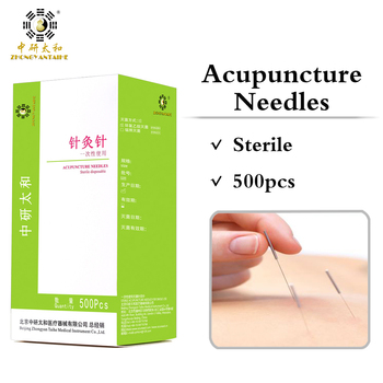 Wholesale Sterile 500Pcs 100 1Box Disposable Acupuncture Needles Zhongyan Taihe Beauty Massage Needle + Tube, Valid for 5 Years acupuncture needle 500 pcs with tube disposable needle zhongyan taihe sterile needle beauty acupuncture massager