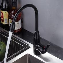 Black Bronze Kitchen Faucets Cold Hot Mixer Tap Single Handle Mixer Tap 360 Rotation Kitchen Water Crane Tap