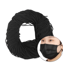 100 Yard 3mm Round Black Mask Elastic Band DIY Clothing Craft Rubber Bands Sewing Accessories Apparel Sewing & Fabric