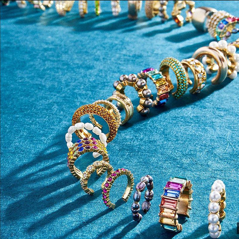 Gemelos de perla para oreja para mujer, aretes bohemios apilables en forma de C de CZ con diamantes de imitación, aretes pequeños con Clip, joyería de boda 2020