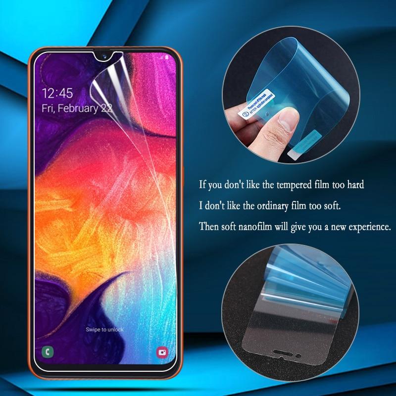 Nano Explosion-proof Film For Samsung A50 Screen Protector Samsung Galaxy A70 A60 A40 A30 A20 A20e S10e S10 5G Lite Soft Film