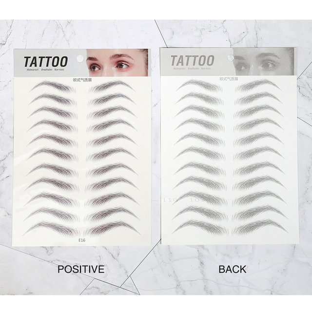 O.TWO.O Water Transfer Eyebrow Sticker 7 Day Long Lasting Waterproof Makeup 4D Hair-like Eyebrows Tattoo Stickers 4