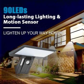 цена на SHOPLED 90 Led Solar Light Outdoor Garden Solar Lamp Waterproof Lampara Solar Power PIR Motion Sensor Wall Light Decoration