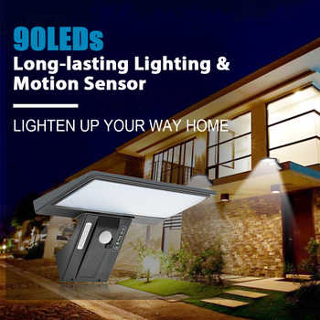 SHOPLED 90 Led Solar Light Outdoor Garden Solar Lamp Waterproof Lampara Solar Power PIR Motion Sensor Wall Light Decoration - DISCOUNT ITEM  39 OFF Lights & Lighting