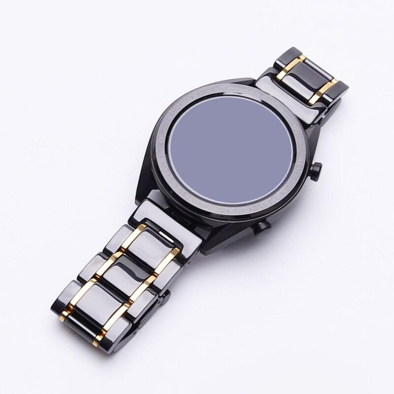 Pulseira para Huawei 2 e – 2 para Samsung Cerâmica Relógio – gt Honra Magicver Engrenagem s3 Fronteira Clássico Substituição Cinta 20mm 22mm 2