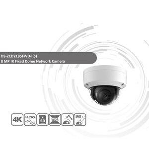 Image 2 - Hikvision Original DS 2CD2185FWD I 8MP CCTV cámara RED Cámara H.265 4K IP Cámara Audio alarma interfaz 30M IR Mini domo OEM