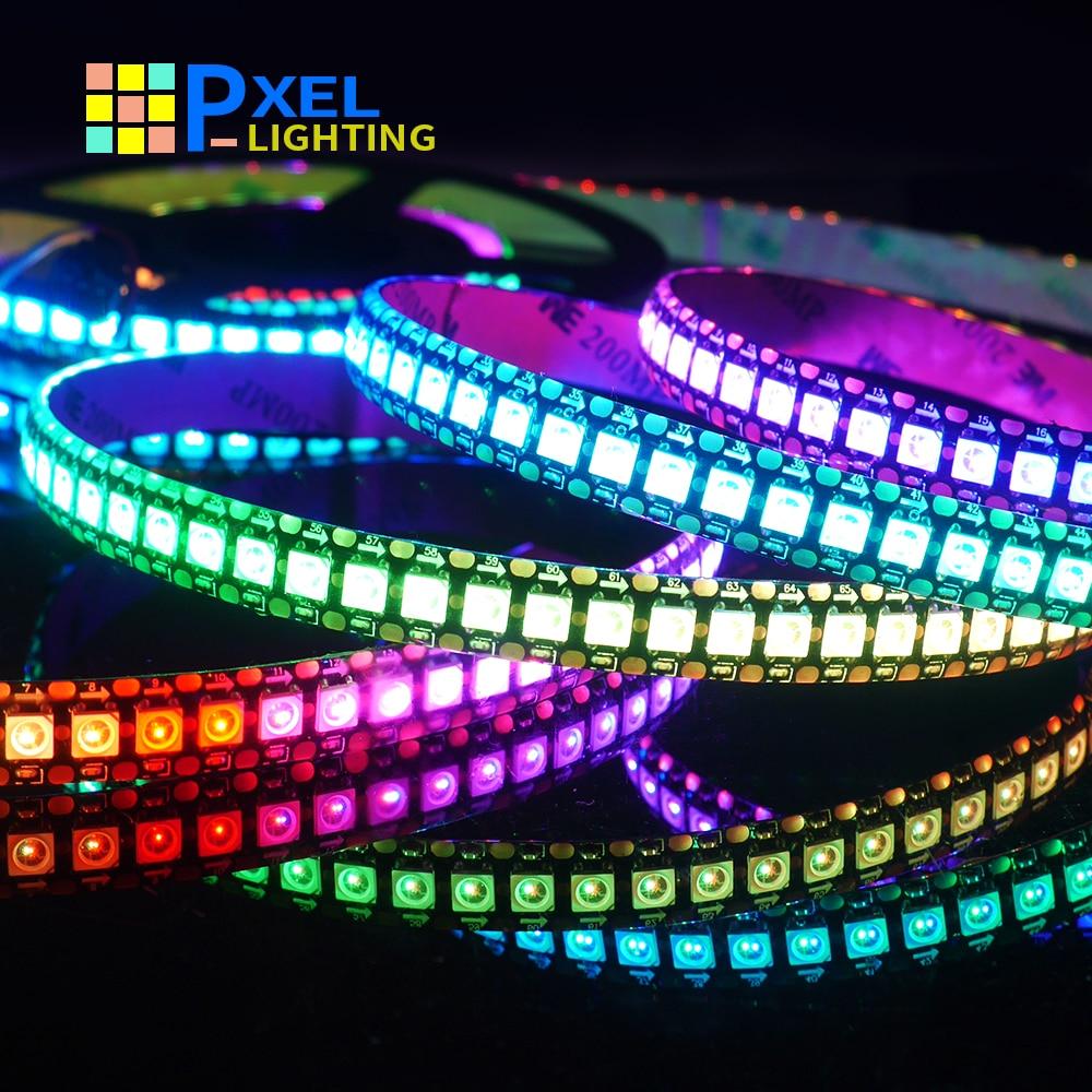Bande lumineuse LED RGB pleine couleur WS2815 WS2812B, 5050 perles, signe néon pixels intelligents adressables, double signal, chambre à coucher