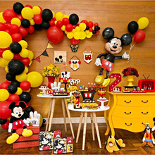 Mickey Mouse Party Decoration Baby Shower Kids Birthday Party Disposable Party Supplies Mickey Minnie Cake Decor(China)