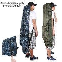 Large Capacity Folding Reel Bag Tackle Tool Case Carrier Travel Storage Bag Fishing Bag Hot