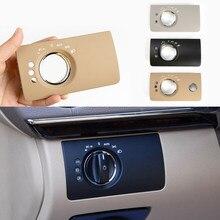 Painel de interruptor do farol interior do carro guarnição cabeça lâmpada botão painel substituição para mercedes benz ml gl w164 x164 300 350 450 500
