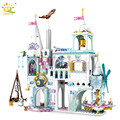 HUIQIBAO 725Pcs Stadt Eis Schnee Burg Windmühle Bausteine Prinzessin Mädchen Freunde Schneemann Figuren Ziegel Spielzeug Für Kinder