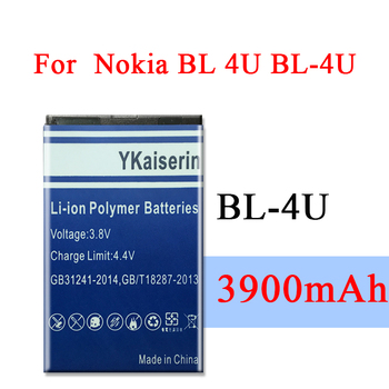 3900mAh BL-4U BL4U BL 4U Lithium Battery For Nokia Asha 210 300 305 306 308 309 311 501 503 Replacement Battery + Tracking Code 1