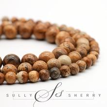 Imagem de alta qualidade pedra semi preciosa bola redonda grânulo solto para fazer jóias 15.5 Polegada escolher tamanho 4 6 8 10 12mm diy