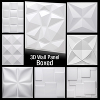 12 Pcs 30x30cm 3D tile panel mold plaster wall 3D wall stickers living room wallpaper mural bathroom kitchen accessories outdoor