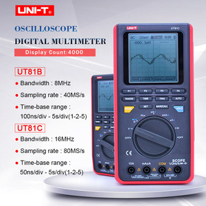 UNIT UT81B UT81C Scope Digital Multimeter 8/16MHz 40/80MS/s Mini Oscilloscope AC DC Voltage Current Tester USB Interface PC Soft