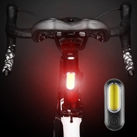 Led luz da bicicleta traseira usb recarregável vermelho branco azul luz do assento da bicicleta acessórios de aviso da lâmpada luz da cauda