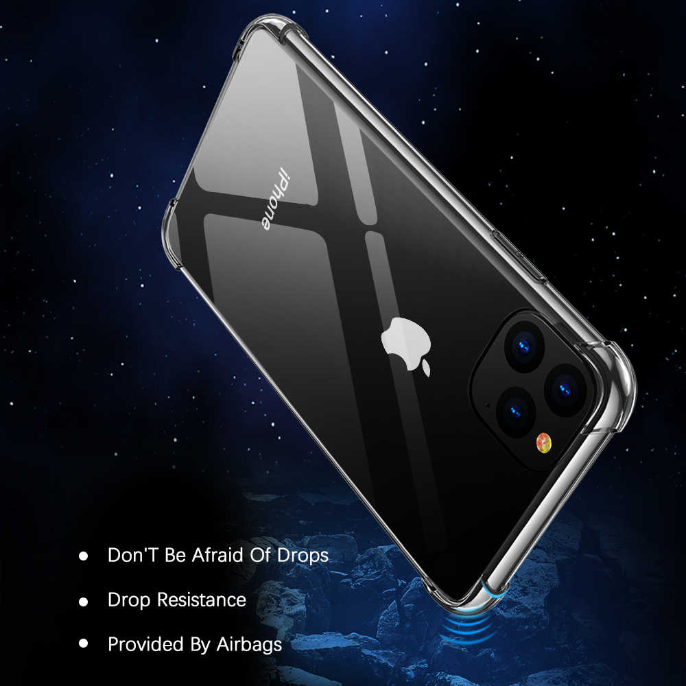 KISSCASE 耐震電話ケース iphone 11 2019 11 プロマックスカバーソフトシリコンケース iphone 11 プロマックス透明 Fundas