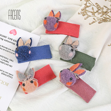 FACEINS 2019 New Autumn Winter Hair Pins Korean Style Animal Rabbit Pin Head jewelry Stick for Women Girls Accessories