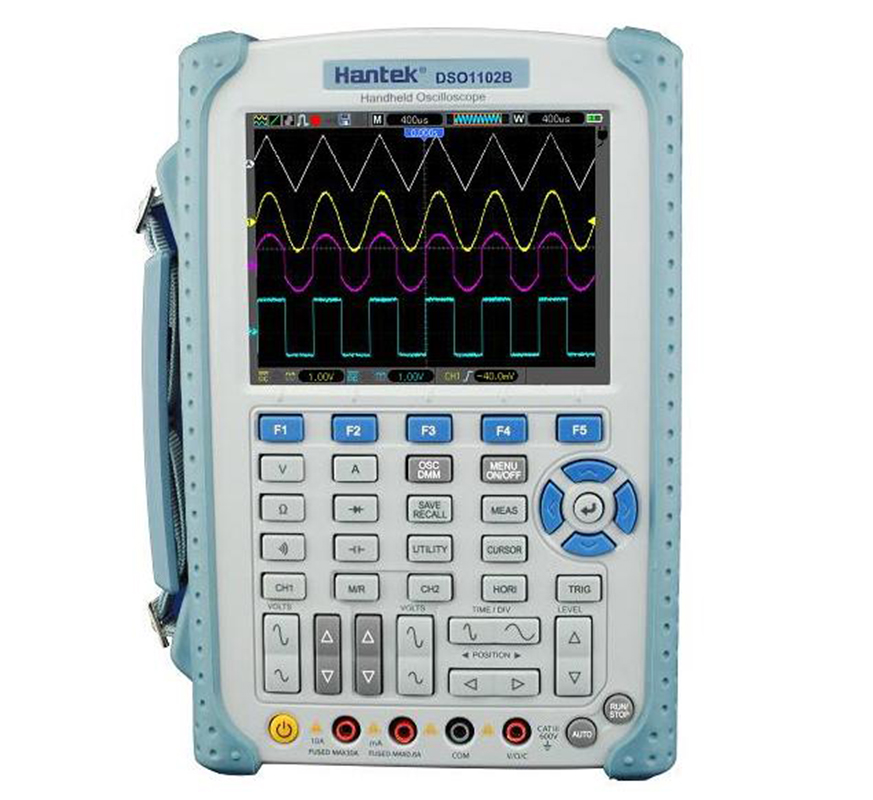 <font><b>Hantek</b></font> <font><b>DSO1102B</b></font> 2 Channels Handheld Digital Oscilloscope 100Mhz Bandwidth USB Osciloscopio 6000 Counts DMM Multimeter 1GSa/s image