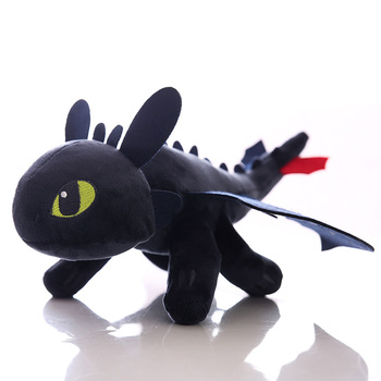 Children Toy How to Train Your Dragon Toothless Light Fury Plush Toys Soft Stuffed Night Fury Toothless Plush Figure Kids Toys