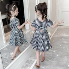 Girls Dress 2020 Summer New Back Bow Design Sense Girls 3 to 8 Years Old Skirt Princess Dress Cute