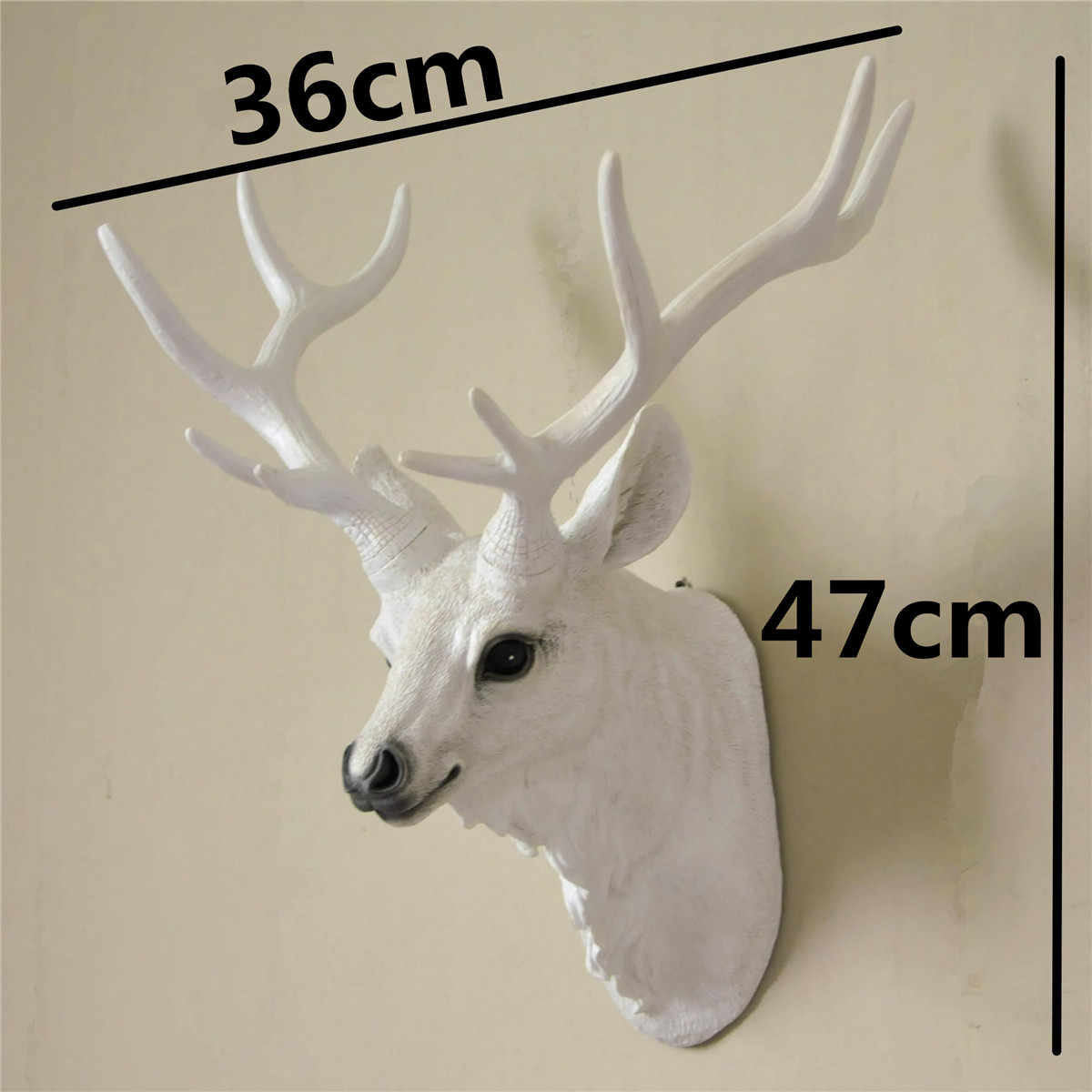 Wall Hanging Resin Stag Head Plaque Ornament