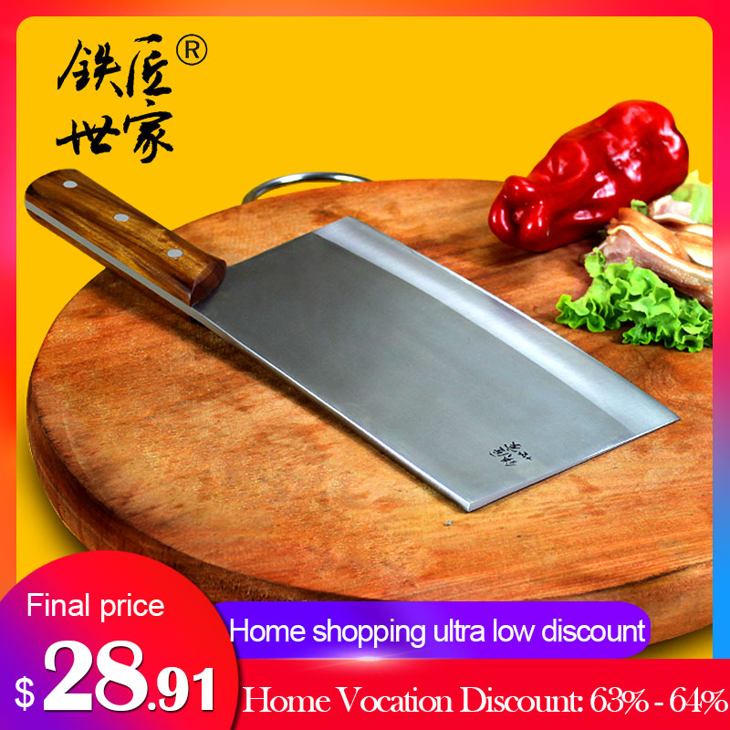Chinese chef knife handmade forged stainless steel kitchen knives sharp vegetable meat fish slicing knife cuchillos de cocina