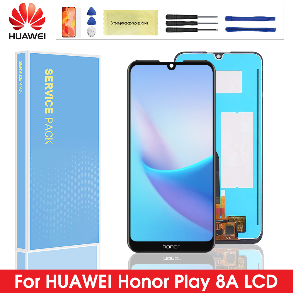Cep telefonları ve Telekomünikasyon Ürünleri'ten Cep Telefonu LCD'leri'de Orijinal LCD Huawei onur oyun için 8A LCD ekran ekran Digitizer onur 8A çerçeve ile LCD ekran JAT L29 JAT L01 JAT L21 title=