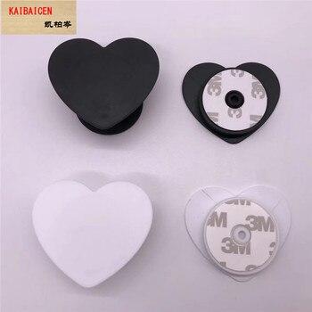 100pcs/lot  Universal Heart Cell Phone Holder Real 3M glue Grip UV phone Stand 360 Degree Finger Holder Flexible adjustable 1