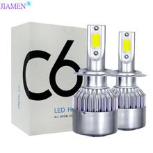 C6 led Car Headlight H7 LED H4 Bulb HB2 H1 H3 H8 H9 H11 9005 HB3 9006 HB4 9004 9007 72W 8000lm Auto Lamps Fog Lights 12V цена и фото