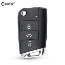KEYYOU-estuche para mando a distancia para Volkswagen Golf 7 GTI MK7 Skoda Octavia A7, funda sin llave para coche