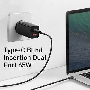 Image 3 - Baseus cargador GaN de carga rápida para móvil, Cargador rápido de 65W con doble cargador con puerto USB, 4,0, 3,0, tipo C, PD, para iPhone, para ordenador portátil y tableta xiaomi