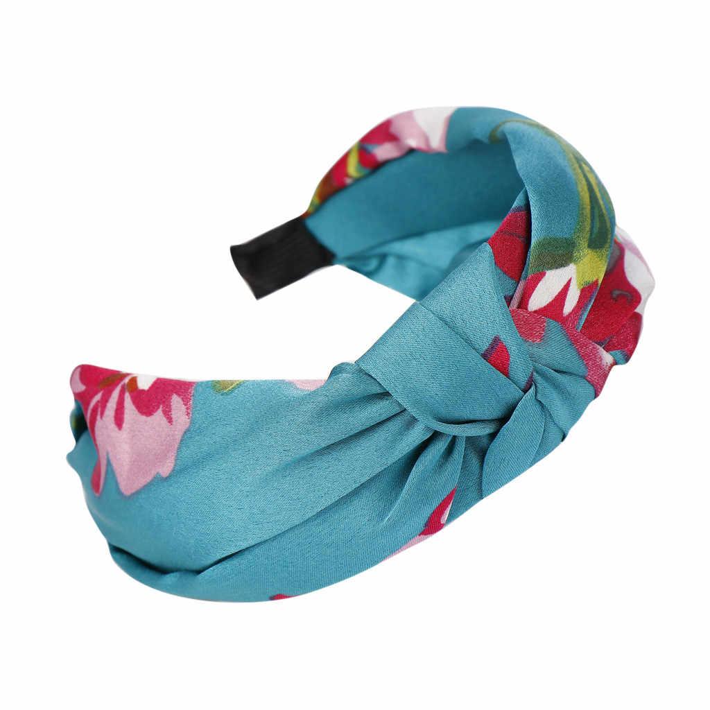 Модная повязка для волос с бантом и цветком с широкими полями, Женская повязка на голову, простая Милая повязка на голову для девушек
