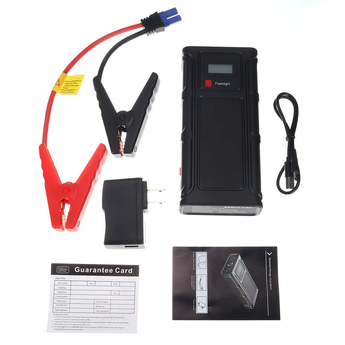 99900mAh High Capacity Starting Device Booster 12V Car Jump Starter Power Bank Car Starter For Car Battery Charger Buster LED