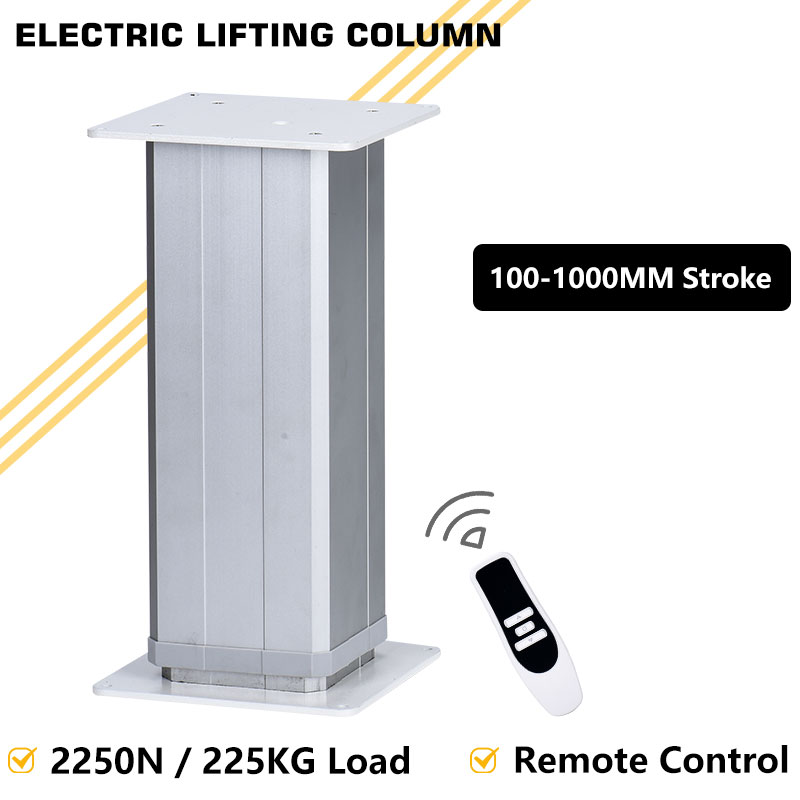 Lift column Electric table <font><b>DC</b></font> power 24V <font><b>12V</b></font> 200KG Large thrust 100-1000MM Stroke Car lifting Remote wireness control Low noise image