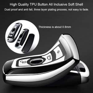 Image 4 - High Quality TPU Chrome Car Key Cover Key Bag fit for BMW X3 X4 X5 X6 1/3/5/7 Series M3 Key Shell Protector Auto Key Case Chains
