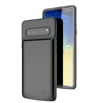 Battery case For Samsung Galaxy S10 S10e Silicone Shockproof Battery charger case Slim power bank case Cover ForSamsung S10 Plus 1